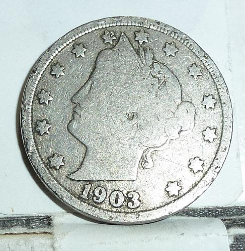 Here is a 1903 Liberty Nickel in Very Good Grade ( 6571 )