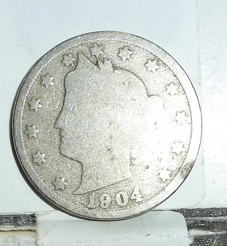 Here is a 1904 Liberty Nickel in Very Good Grade ( 6572 )