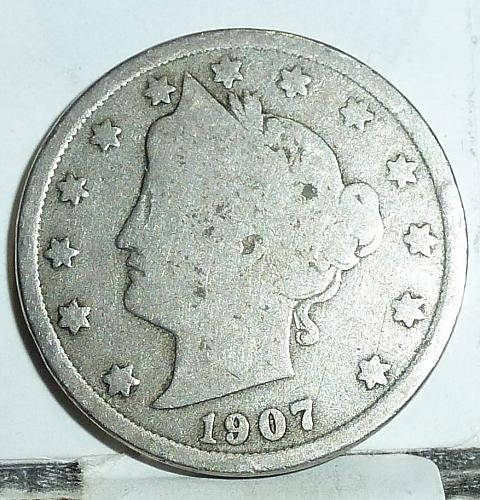 Here is a 1907 Liberty Nickel in Good Grade ( 6575 )