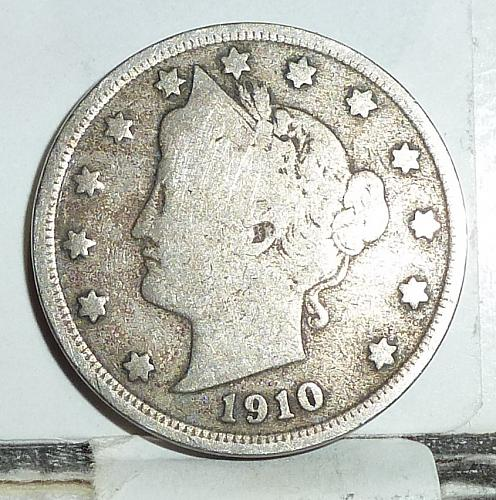 Here is a 1910 Liberty Nickel in Good Grade ( 6578 )