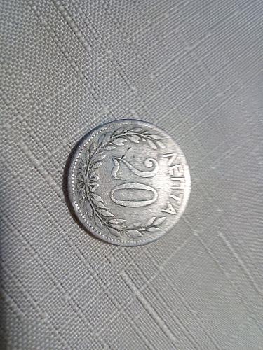 20 lepta 1895 , GREECE
