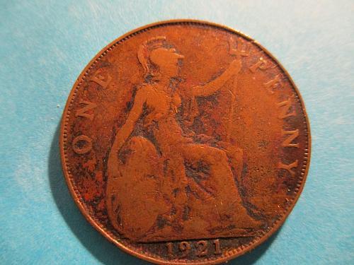 1921 UK Penny