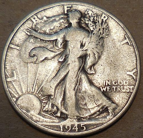 1945-D Walking Liberty Half Dollar