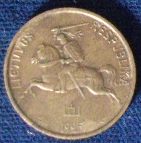 1925 Lithuania 5 Centai VF