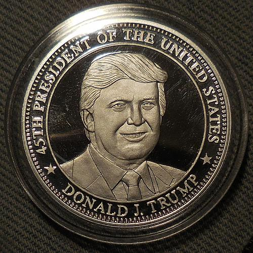 President Trump One Troy Ounce .999 Fine Silver