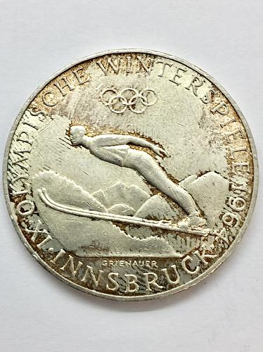 1964 Austria 50 Schillings - Olympic Skier