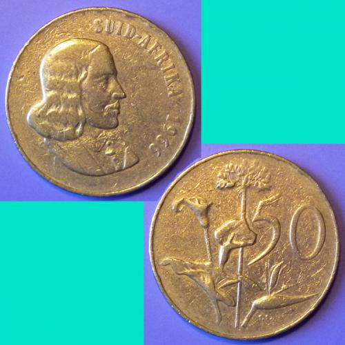 South Africa 50 Cents 1966 km 70.2