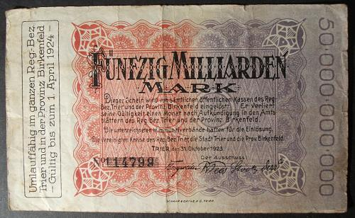 Trier and Birkenfeld 50 Billion Marks VG