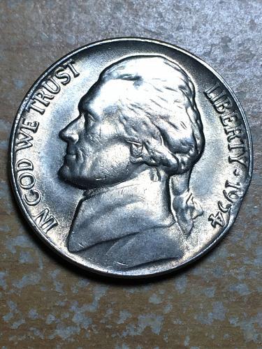 Clip 1954 Jefferson Nickel Item 0119107
