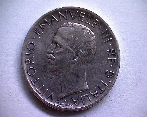 """1927R  ITALY FIVE LIRE  """"SILVER"""""""
