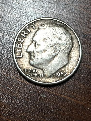 1962 D Roosevelt Dime Item 0119163