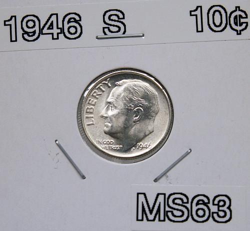 1946 S Roosevelt Dime