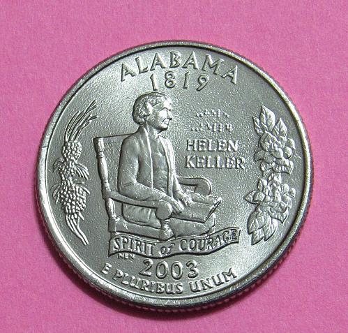 2003-P 25 Cents Alabama State Quarter