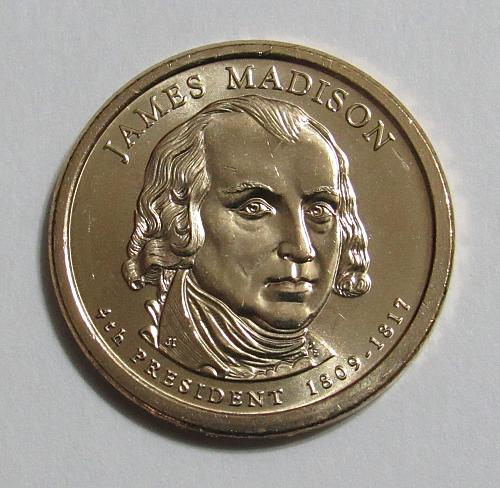 2007-P $1 James Madison Presidential Dollar - Position B