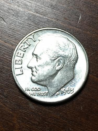 1963 D Roosevelt Dime Item 0119183