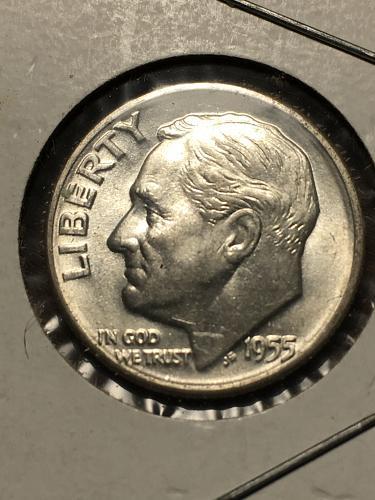 1955 D Roosevelt Dime Item 0119212