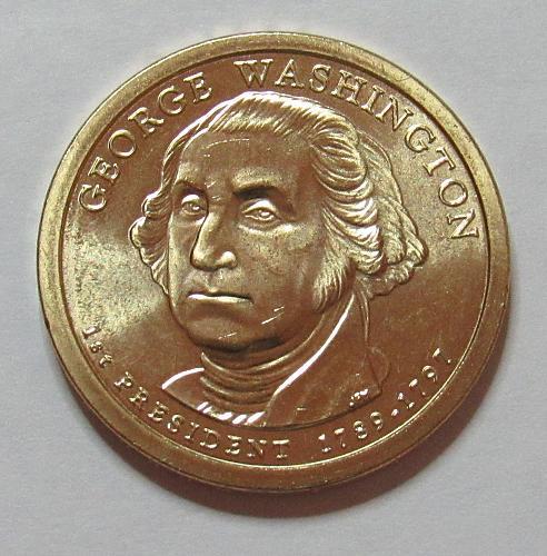 2007 D Presidential Dollar in BU condition: George Washington