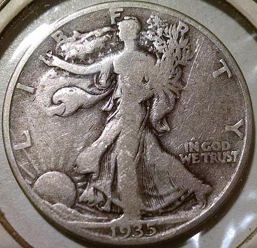 1935 D Walking Liberty Half Dollar