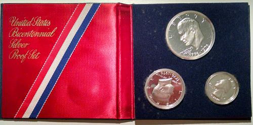 1976 S Proof Sets: Silver Clad - 3 Coin Set
