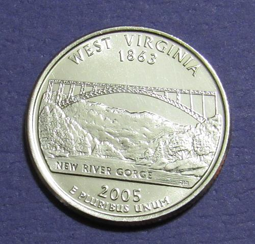 2005-D 25 Cents West Virginia State Quarter