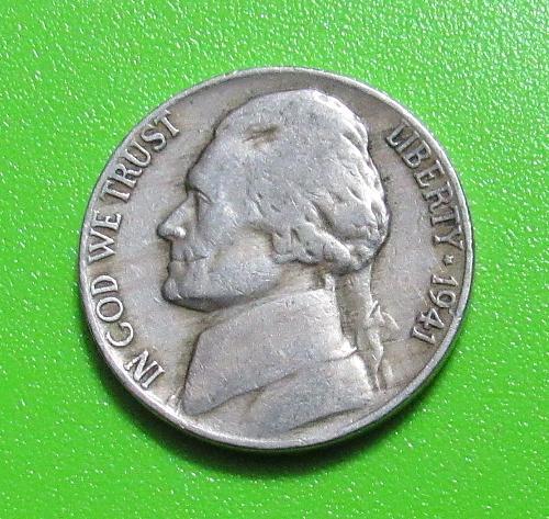 1941 5 Cents Jefferson Nickel
