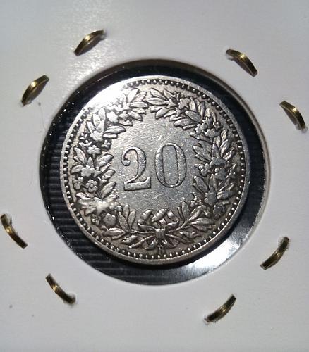 20  Rappen  1883 ,  SWITZERLAND