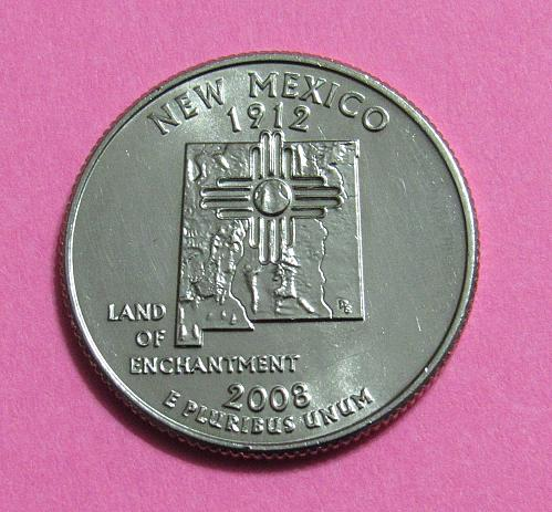 2008-D 25 Cents New Mexico