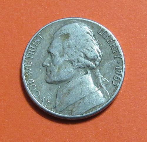 1963-D 5 Cents Jefferson Nickel