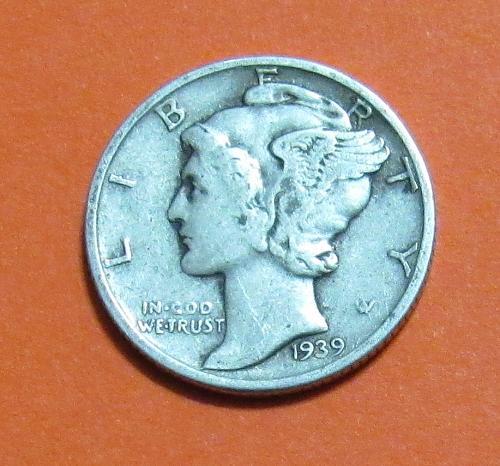 1939 10 Cents Mercury Dime