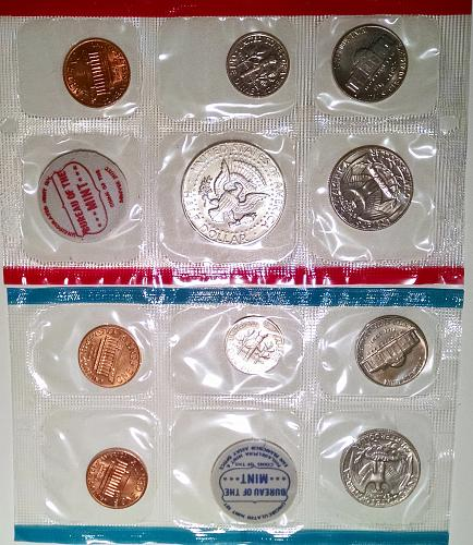 1970 PDS Uncirculated Mint Sets: Large Date on Cent