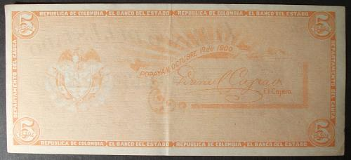 Colombia S505 5 Pesos XF