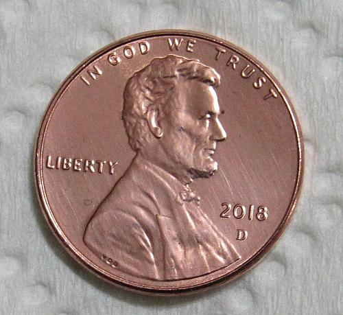 2018-D 1 Cent Lincoln Shield Cent