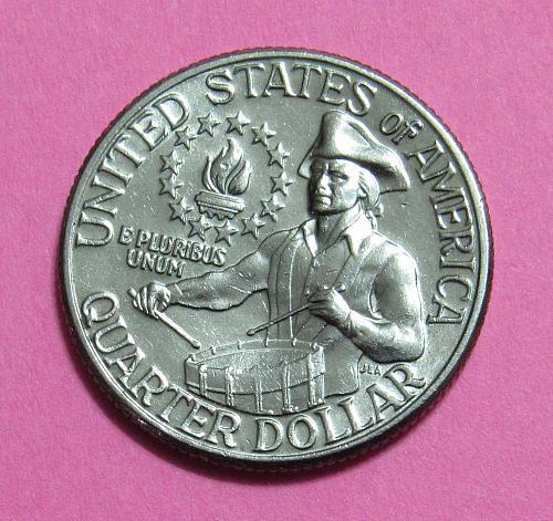 1976-D 25 Cents Washington Quarter - Bi Centennial Quarter - Little Drummer Boy