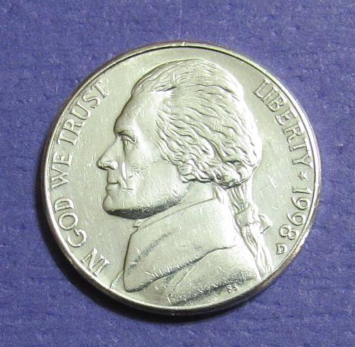 1998-D 5 Cents Jefferson Nickel