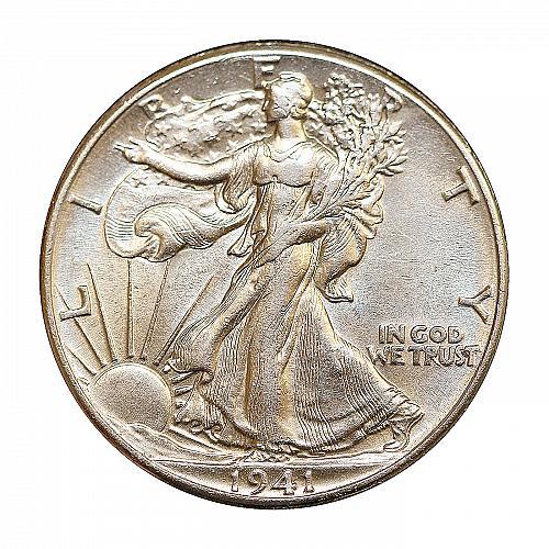 1941 P Walking Liberty Half Dollar - Choice BU / MS / UNC