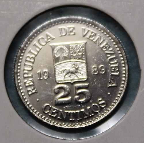 Venezuela 1989 25 centimos