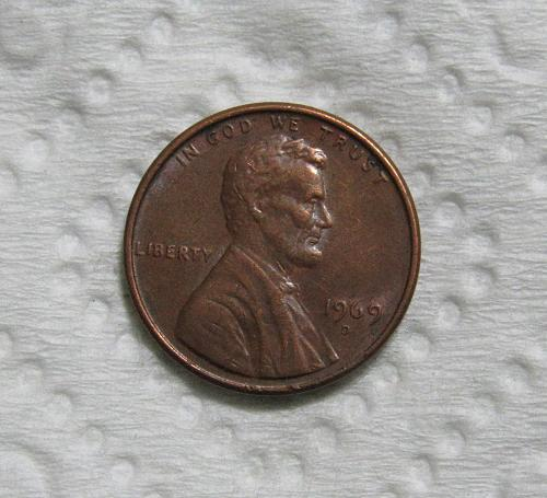 1969-D 1 Cent Lincoln Memorial Cent