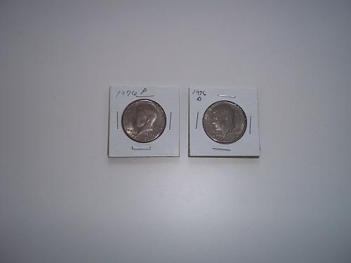 1976 P AND D KENNEDY HALF DOLLARS (CLAD)