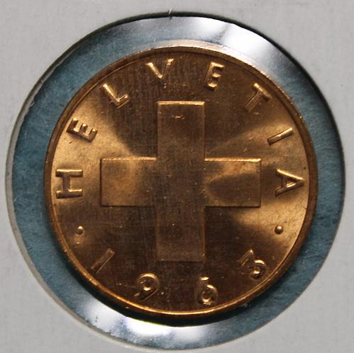 Switzerland 1963B 2 rappen