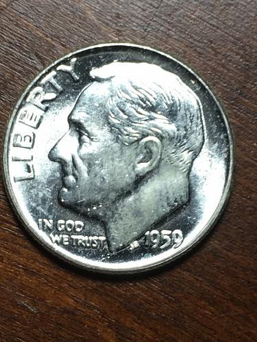 1959 Roosevelt Dime Item 0119253