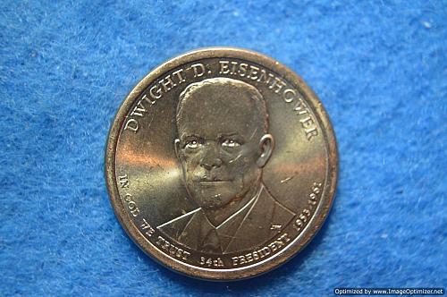2015 P Presidential Dollars: Dwight D. Eisenhower