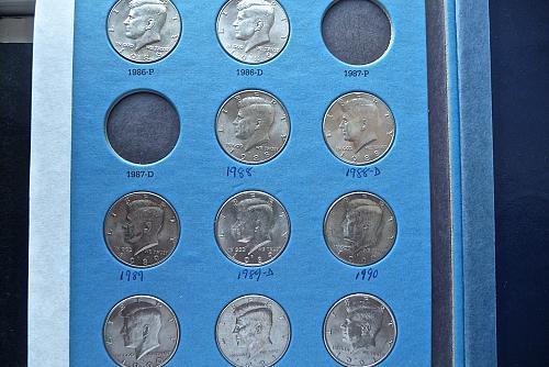 1986 - 2003  Kennedy Half Dollars