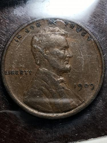 1909 VDB Lincoln Wheat Cent Item 0119279