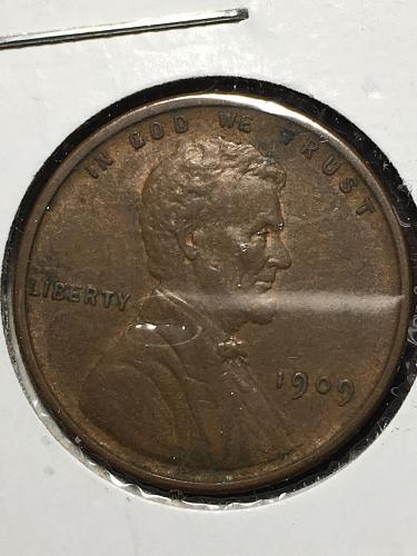 1909 VDB Lincoln Wheat Cent Item 0119281