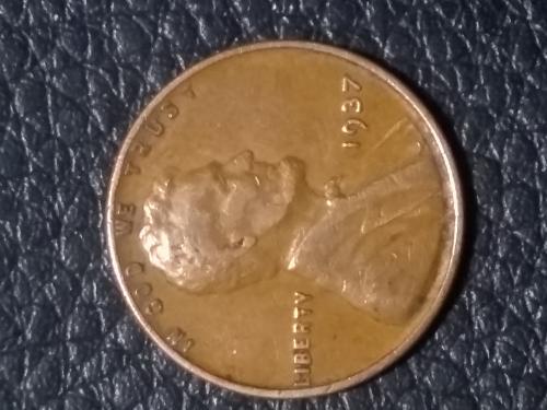 Fine 1937 wheat cent