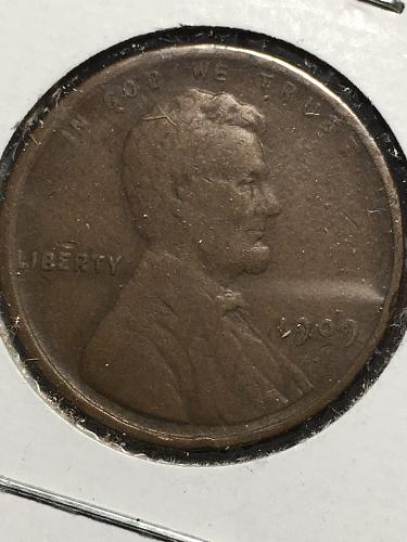 1909 VDB Lincoln Wheat Cent Item 0119293