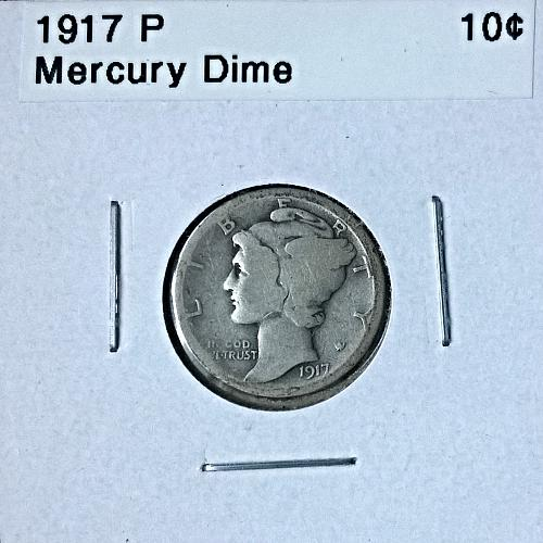 1917 P Mercury Dime - 6 Photos!