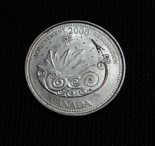2000 Canada 25 Cents