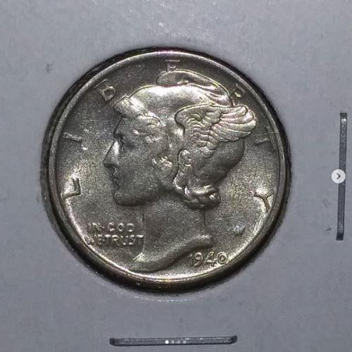 1940 P Silver Mercury Dime