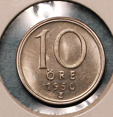 Sweden 1950TS 10 ore